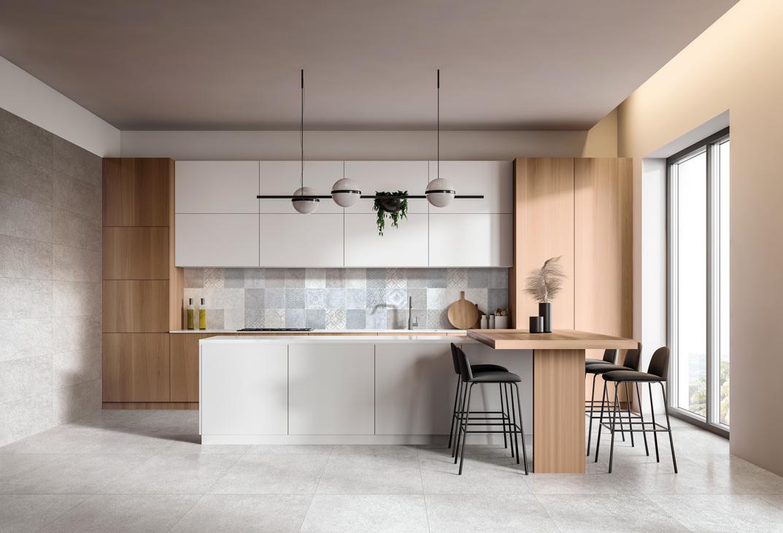 Gris moyen kitchen. Sight Line Frassinoro Ceramiche