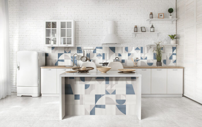 Gris Clair Kitchen Popline Ceramiche Frassinoro
