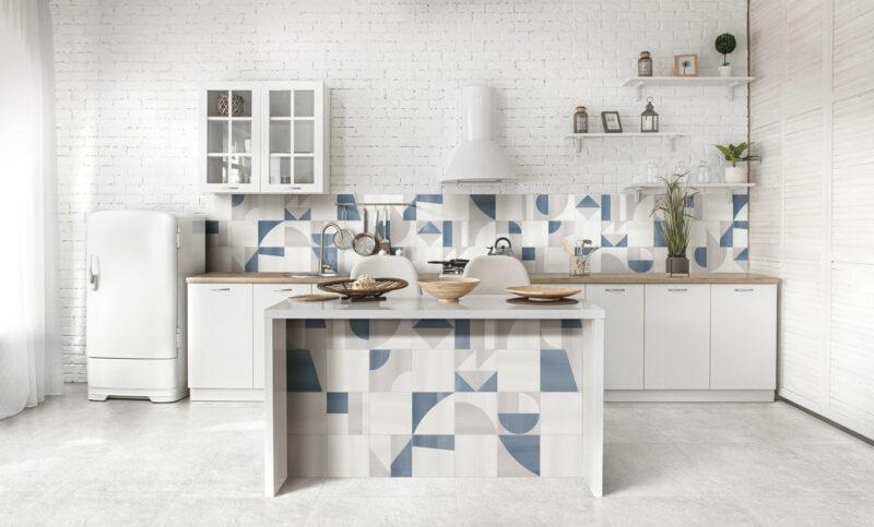 Gris Clair Kitchen Popline Ceramiche Frassinoro